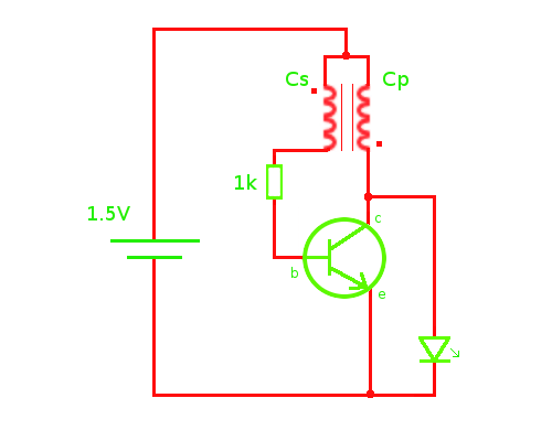 joulethief Joule Thief Schematic on flyback diode, led circuit, electromagnetic shielding, high power, parts list, voltage doubler, no torroid,